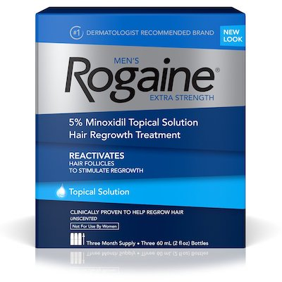Rogaine For Men Hair Regrowth Treatment, Original Unscented