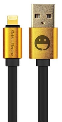 Smallelectric Alloy Gold Plated Lightning Cable