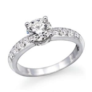 1.00 cttw IGI Certified Diamond Engagement Ring in 14K White Gold (J-K Color, I1-I2 Clarity)