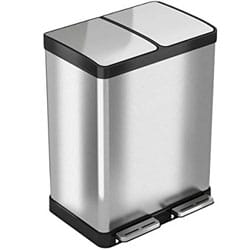 iTouchless SoftStep 16 Gallon: With Dual Containers